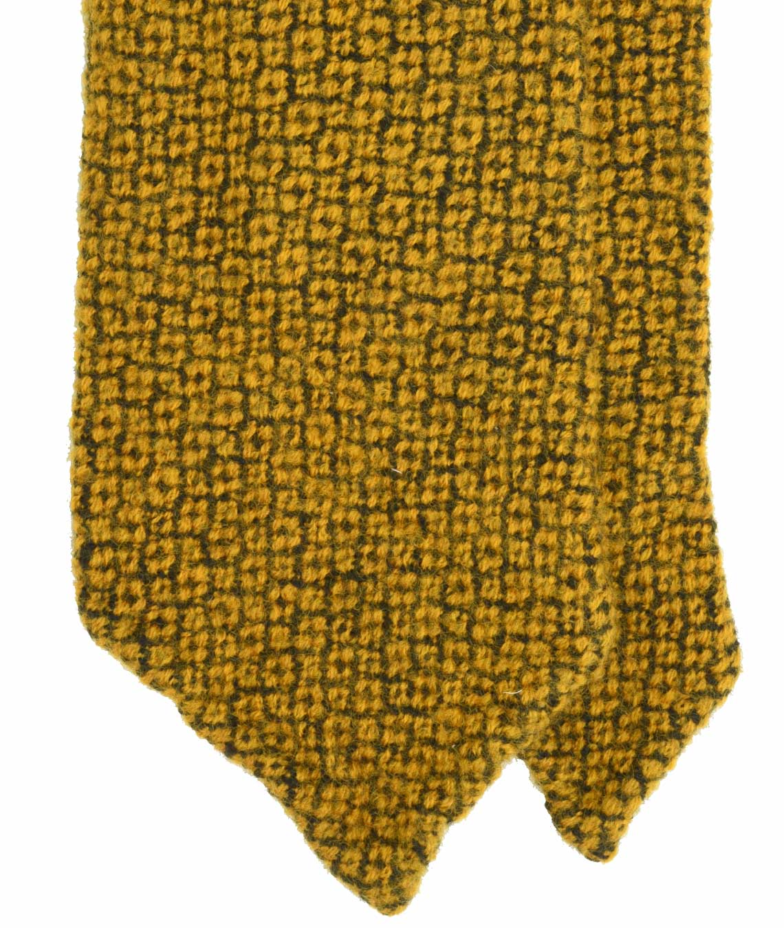 Amidé Hadelin | Fumagalli overdyed wool tie, yellow