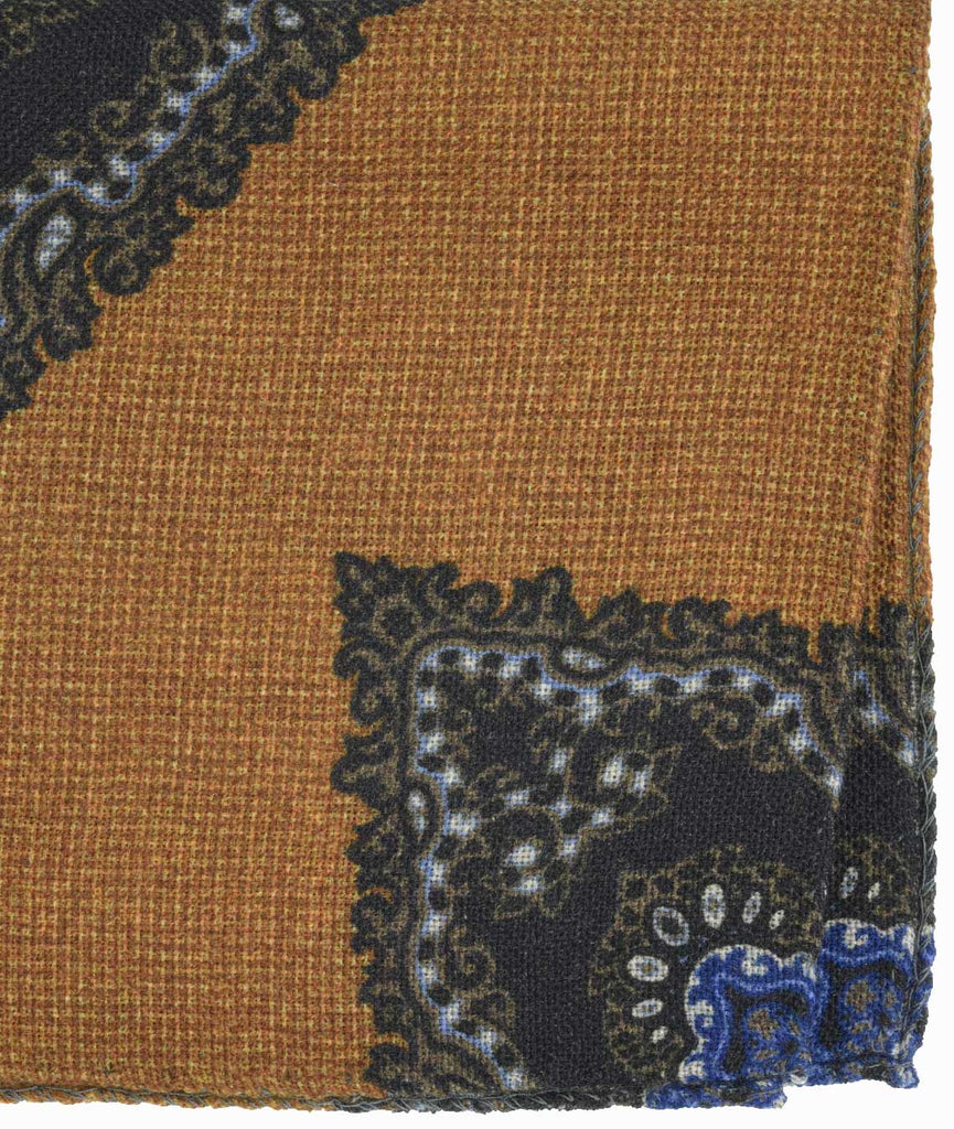 Amidé Hadelin | Fumagalli wool pocket square, mustard