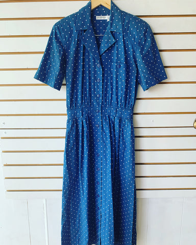 Vintage Liz Claiborne polka dots dress
