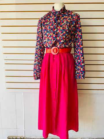 Vintage silk skirt fits med