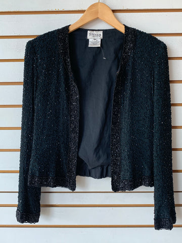 Vintage cropped beaded jacket