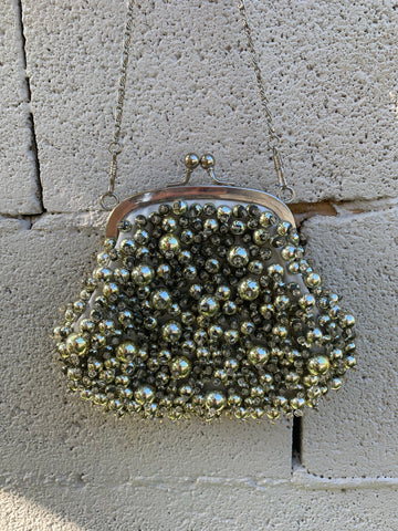 Chunky beads vintage purse