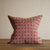 Cotton mix cushion with a red pattern