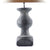 Extra large carved wooden lamp in charcoal finish