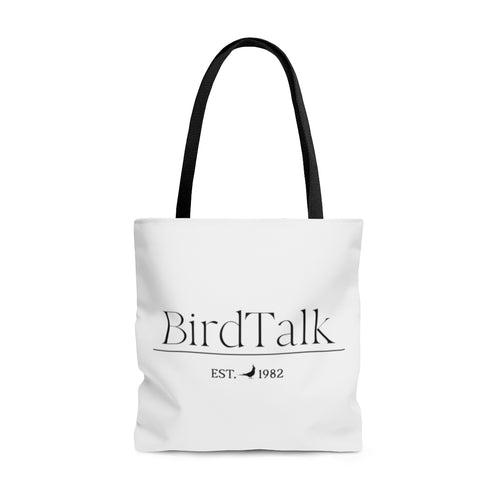 Bird Talk Est. 1982 Cockatiel Logo AOP Tote Bag