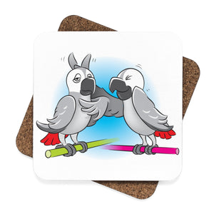 """Beaks Up!"" Memo to Parker and Pepper Coaster Set — 4 Pieces"