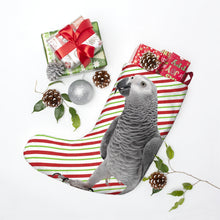 Load image into Gallery viewer, African Grey Christmas Stockings