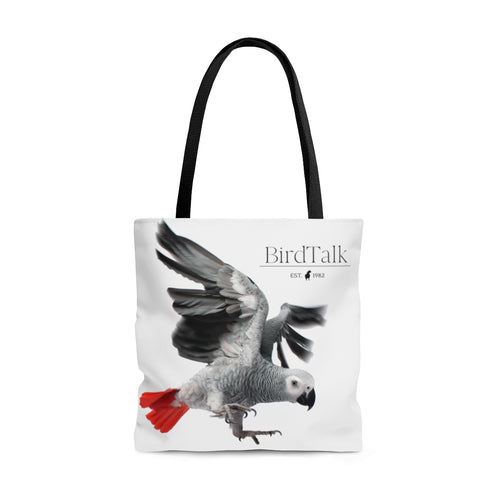 African Grey AOP Tote Bag