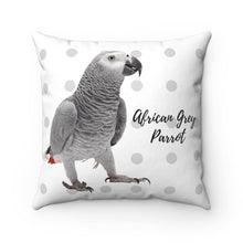 Load image into Gallery viewer, African Grey Polyester Square Pillow