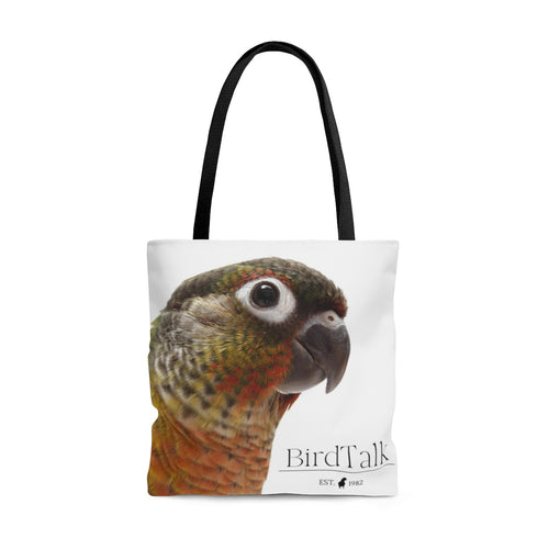 Yellow-Sided Green-Cheeked Conure AOP Tote Bag