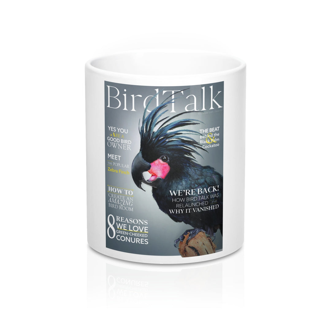 Bird Talk is Black! White Mug 11 Oz