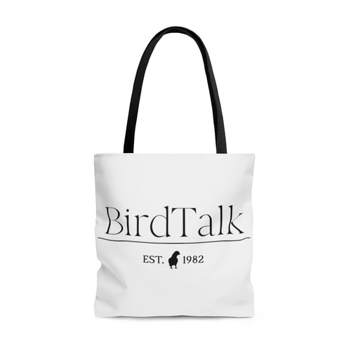 Bird Talk Est. 1982 AOP Tote Bag