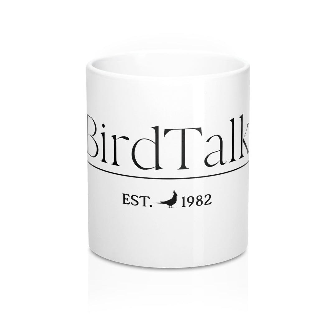 Bird Talk Est. 1982 Cockatiel Logo 11-ounce Mug