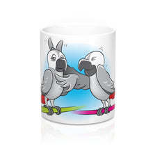 "Load image into Gallery viewer, ""Beaks Up!"" Memo to Parker and Pepper 11 Ounce Mug"
