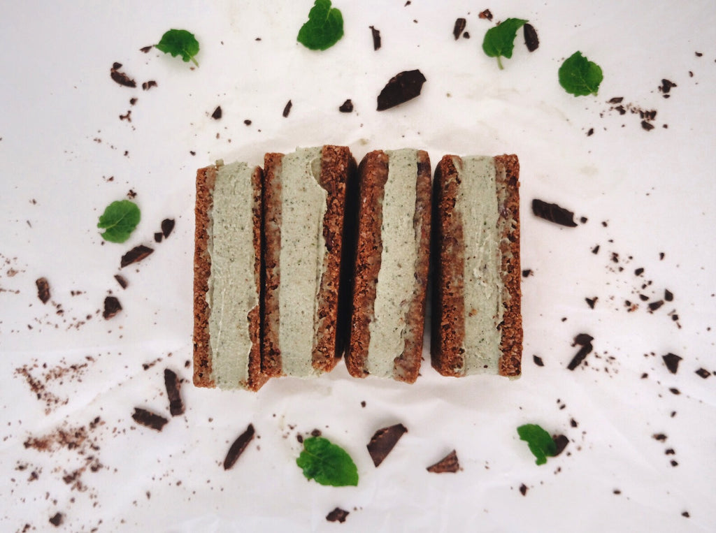 CHOC MINT ICE CREAM SANDWICHES