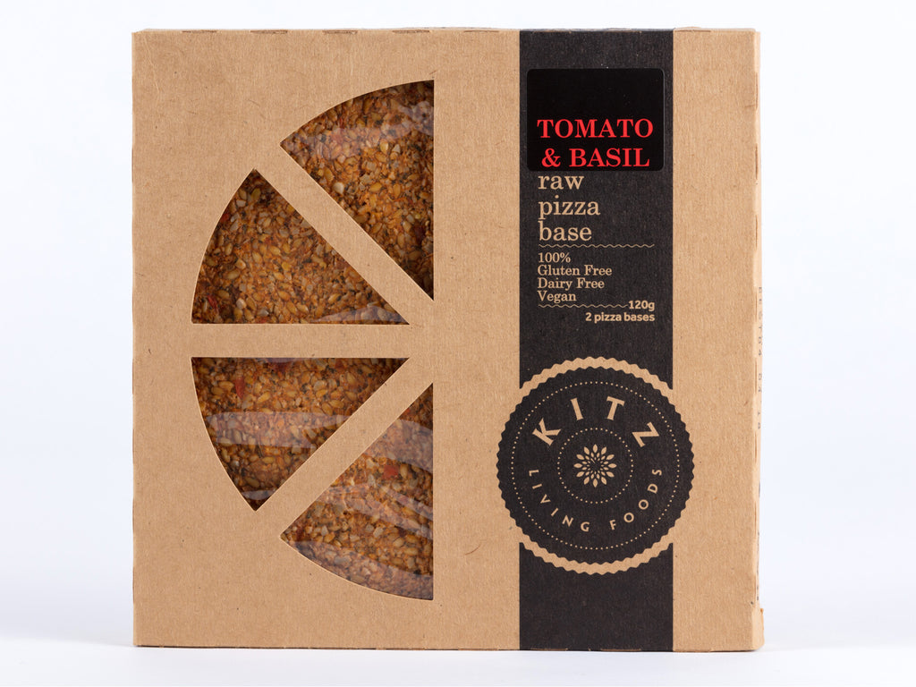 Tomato & Basil Raw Pizza Base-2 per 120g pack