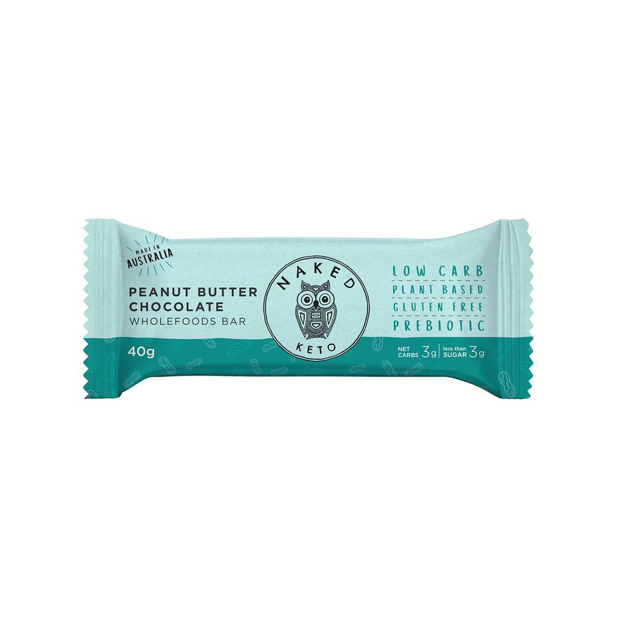 Naked Paleo Peanut Butter Chocolate Keto Bar Box 15 x40g bars