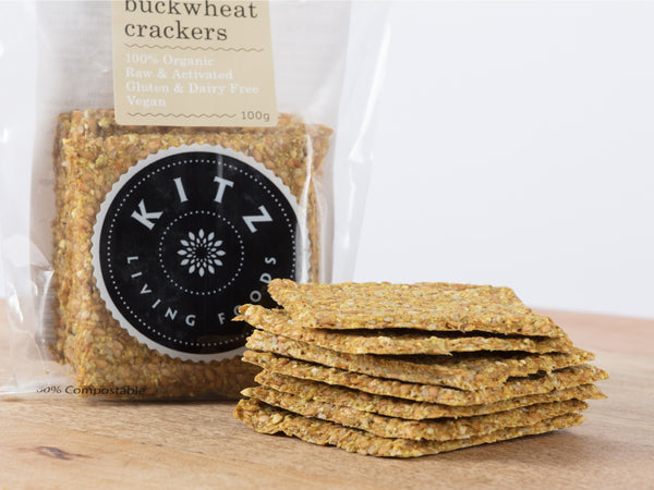 Curry Buckwheat Crackers