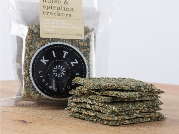 Fresh Herb Dulse & Spirulina Crackers