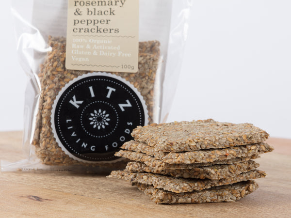 Rosemary & Black Pepper Crackers