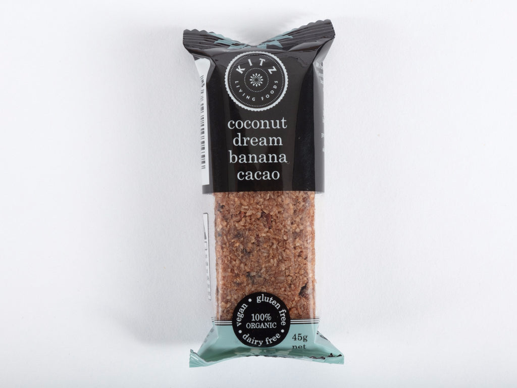 Coconut Dream Banana Cacao Bar (single bar or 10 x 45g bar box)
