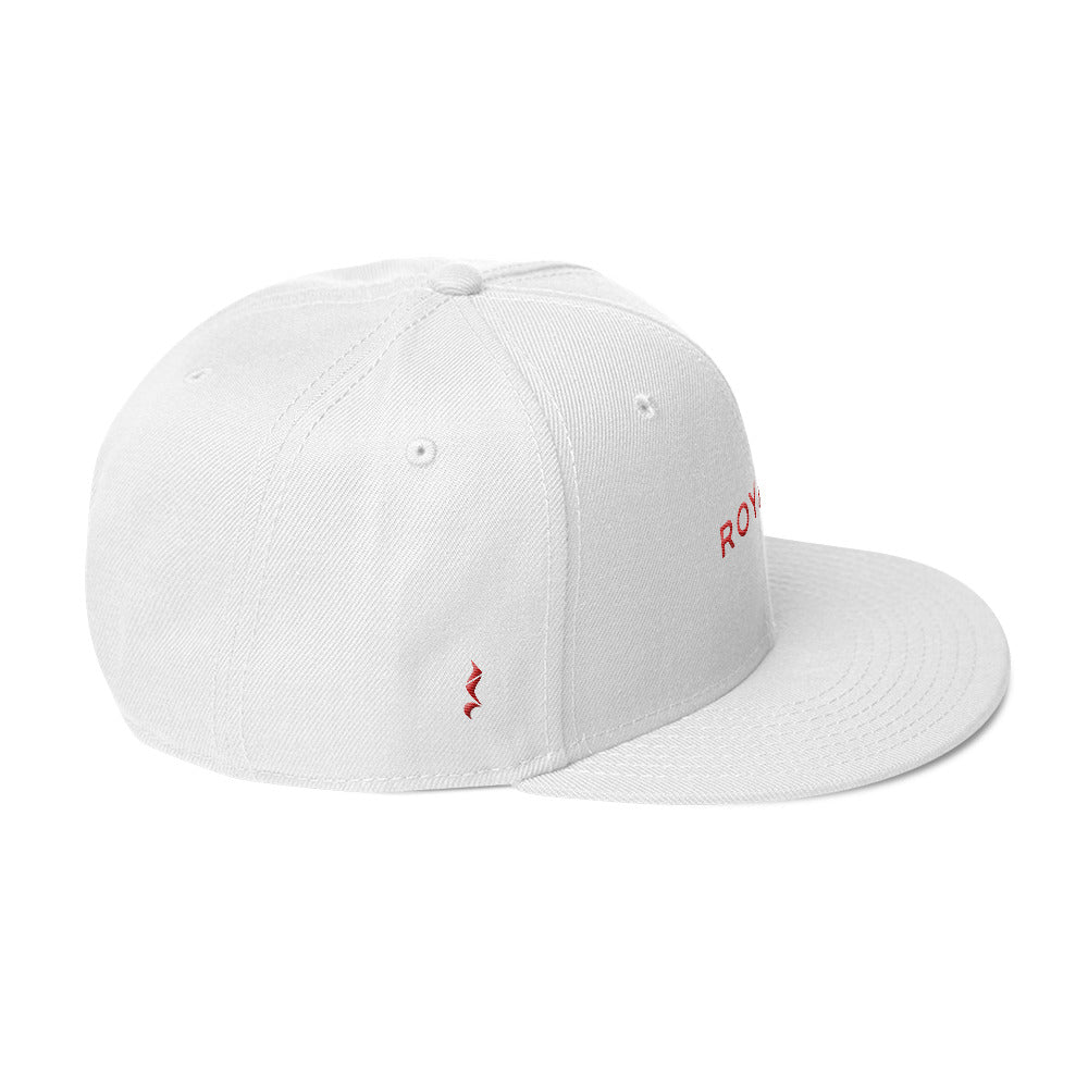 Royalty Snapback Cap (Grey under visor with Red lettering)
