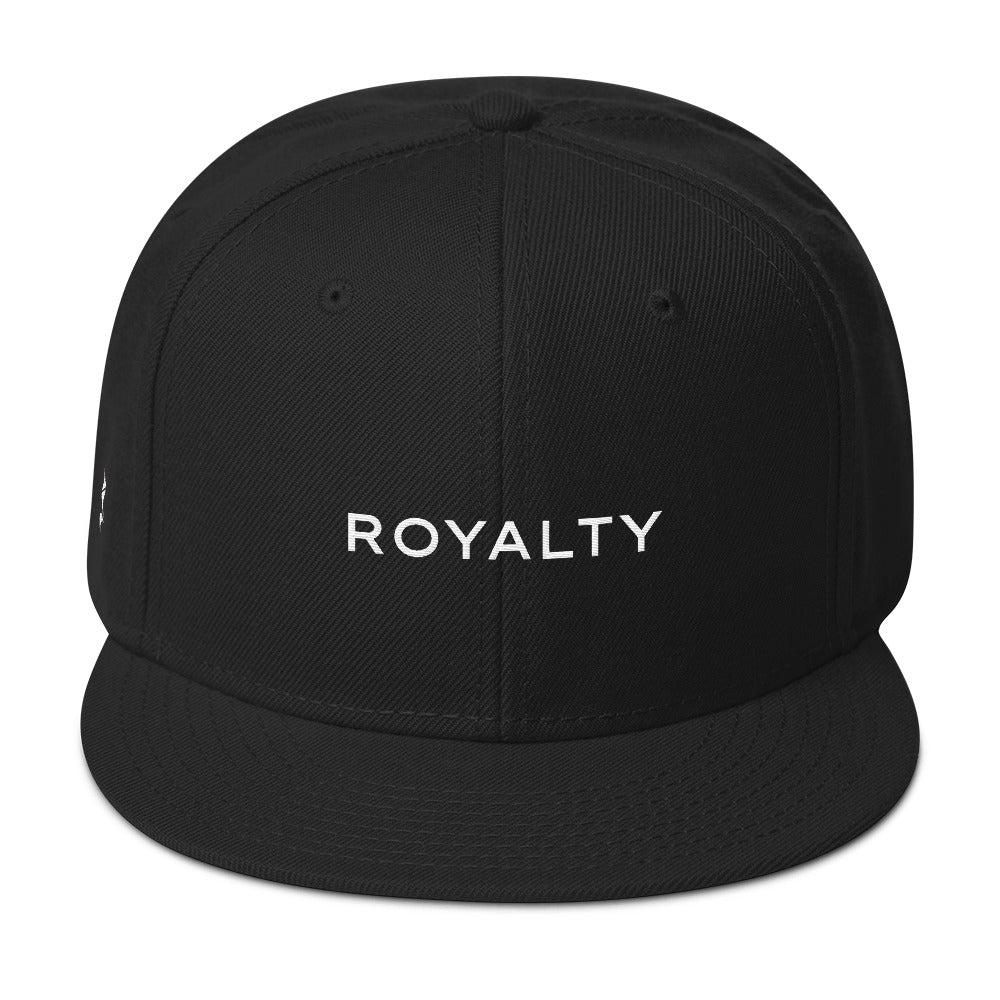 Royalty Snapback Cap (Grey under visor with White lettering)