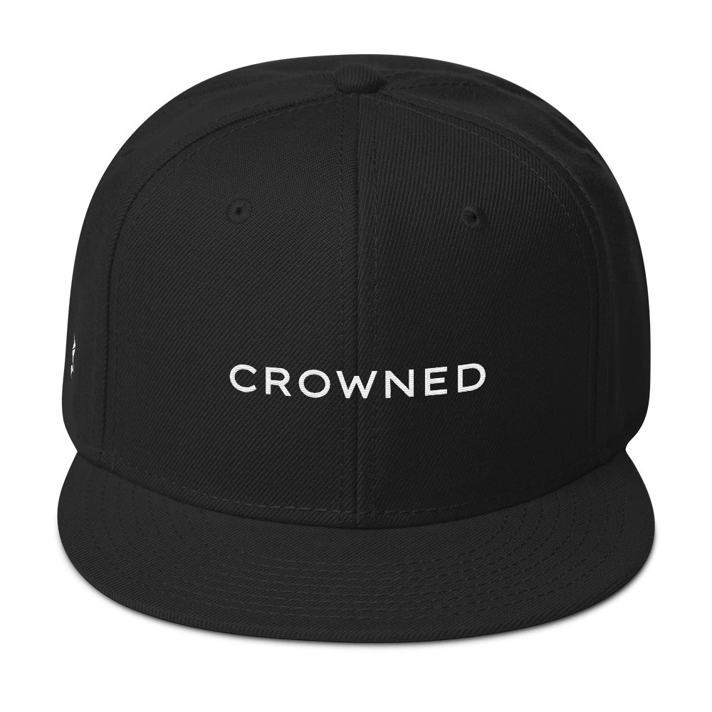 Crowned Snapback Cap (Grey under visor with White lettering)