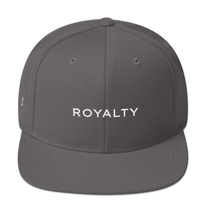 Royalty Snapback Cap (Green under visor with White lettering)