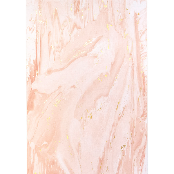 A4 Pink Marble Gold (5 pack)