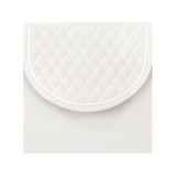 SQ Embossed Wallet Ivory
