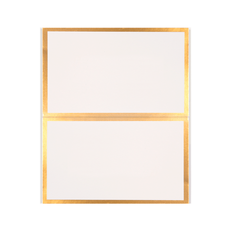 Place Cards Gold Foil Linen 10PK