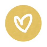 Gold Heart Seals (50 Qty)