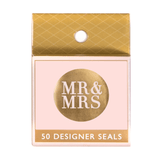 Metallic Mr and Mrs Gold (50 Qty)