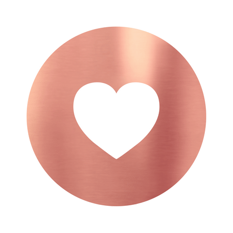 Metallic Heart Rose Gold (50 Qty)