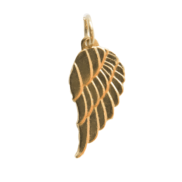 Decorative Charms - Gold Angel Wing PK5