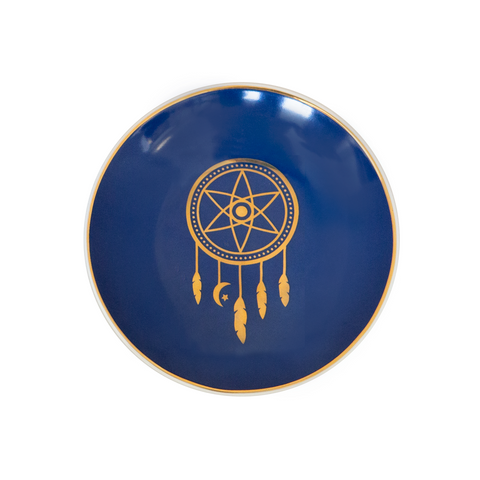 Dreamcatcher Trinket Dish - Navy & Gold