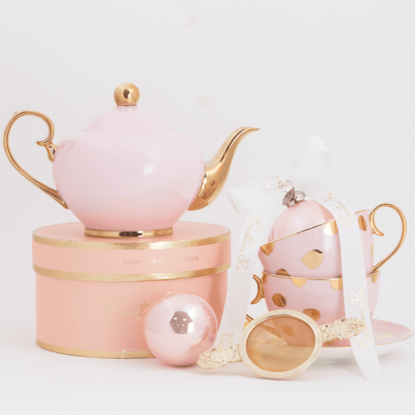 Polka D'Or Blush Tea for 2 Gift Set