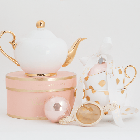 Polka D'Or Ivory Tea for 2 Gift Set
