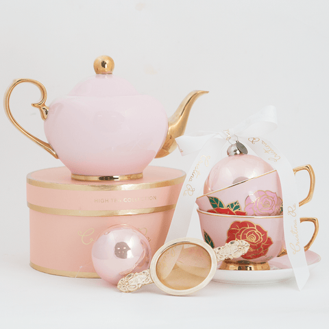 Dolce Rosa Blush Tea for 2 Gift Set