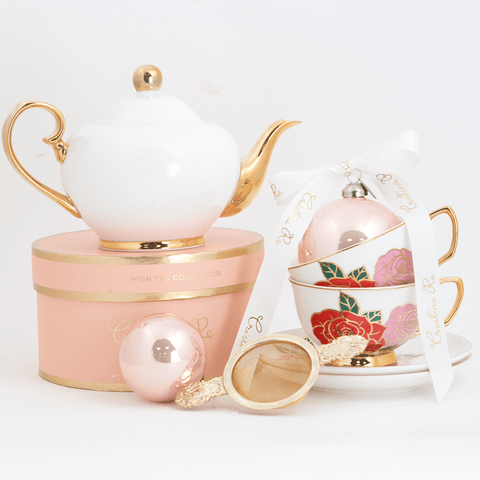 Dolce Rosa Ivory Tea for 2 Gift Set