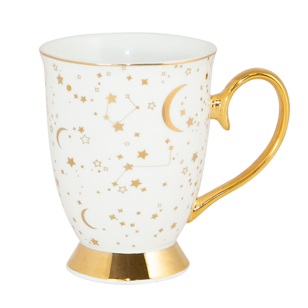 It's Written in the Stars Mug - Ivory & Gold