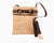 Cork Bag with Crossbody Strap.  Leather Trim