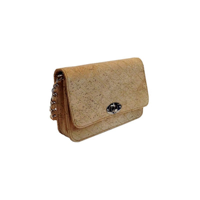 The Balera Bag-Natural Cross body leather free vegan cork bag