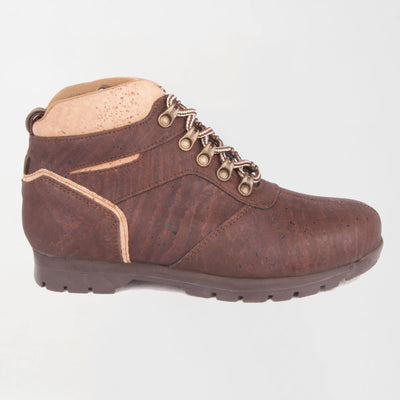 Women's Brown/Natural Cork Boot-Synthetic Interior , Vegan Option