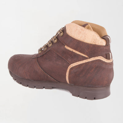 Women's Brown/Natural Cork Boot-Leather Interior, Leather Option
