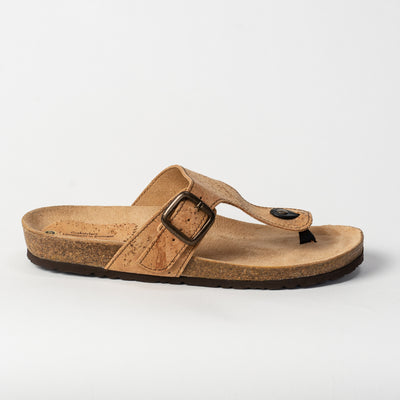 Women's Cork Buckle Thong Sandal