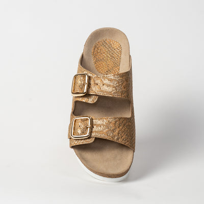 Women's Cork Sandal - Natural Piton Cork