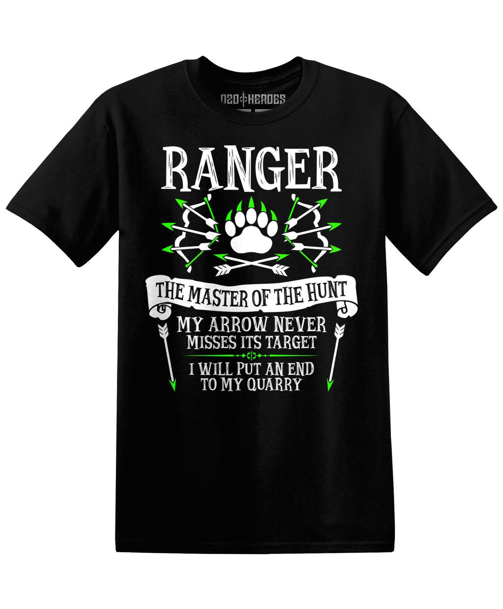 Ranger : The Master of the Hunt - T-Shirt - D20 Heroes / Dungeons and Dragons and Fantasy Clothing and Merchandise