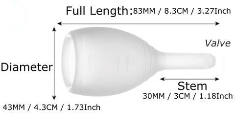 Large menstrual valve cup
